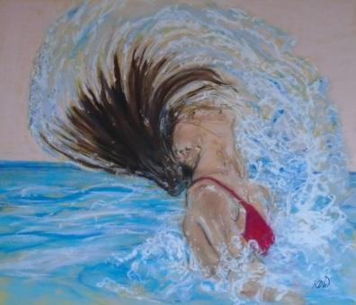 """""""Coming to Life"""" Pastel by Keren Dibbens-Wyatt"""